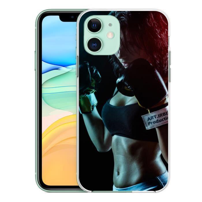 Coque pour iPhone 11 Girl Boxe