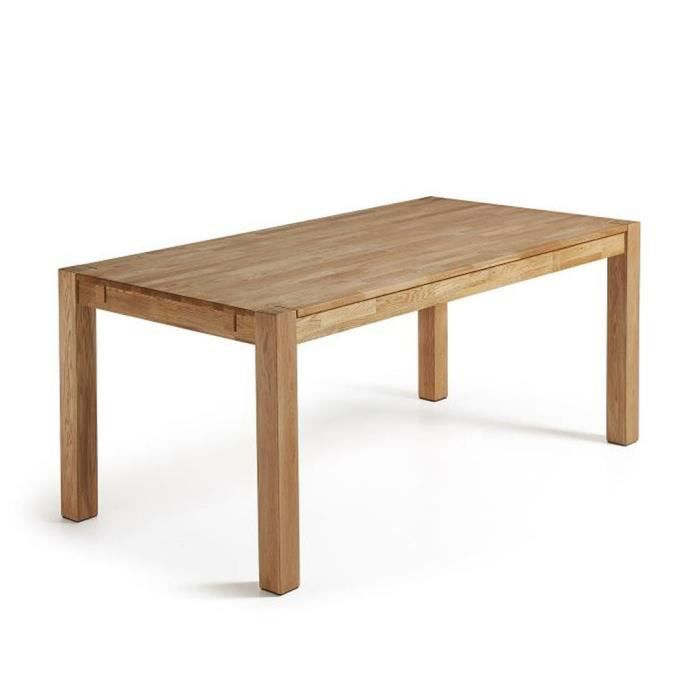 Table chene massif avec rallonge achat vente table for Table rallonge chene