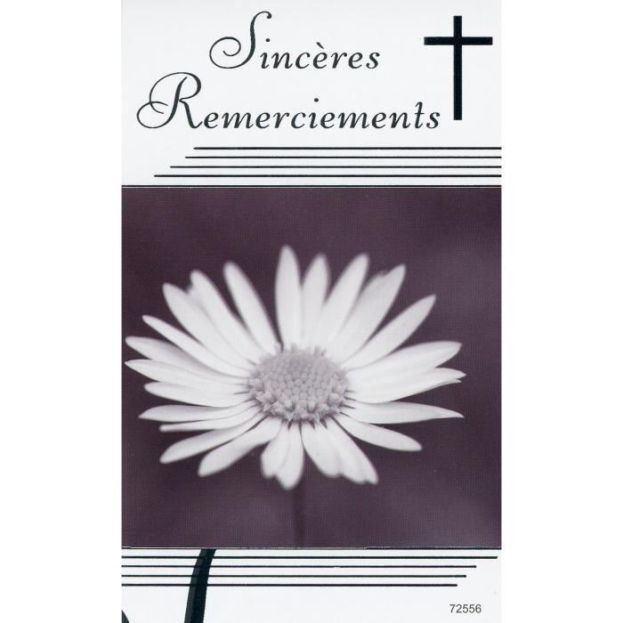 5 Cartes De Remerciements De Deuil Avec Enveloppes Achat Vente Pack Carterie 5 Cartes De Remerciements D Cdiscount