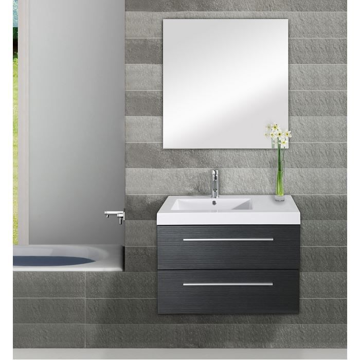 Meuble simple vasque saturn 80cm gris achat vente for Meuble salle de bain simple vasque 120 cm