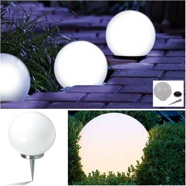 lampe boule 20 cm solaire design achat vente lampe boule 20 cm solaire d cdiscount. Black Bedroom Furniture Sets. Home Design Ideas