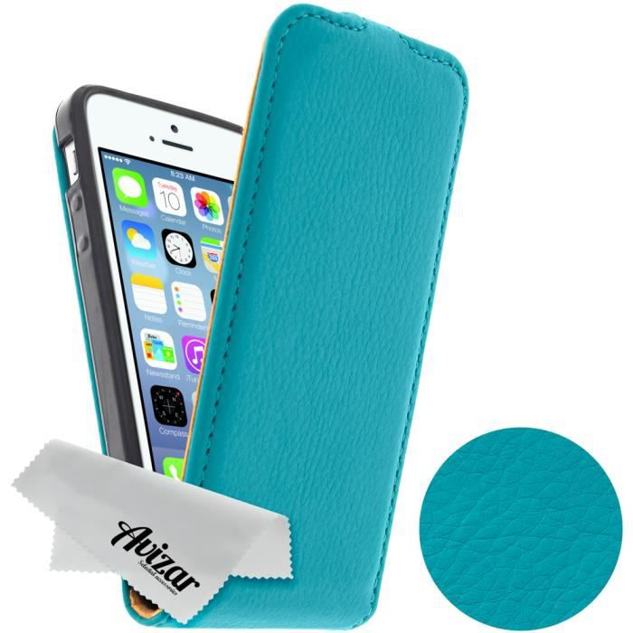 Housse etui clapet apple iphone 5 5s vert achat for Etui housse iphone 5
