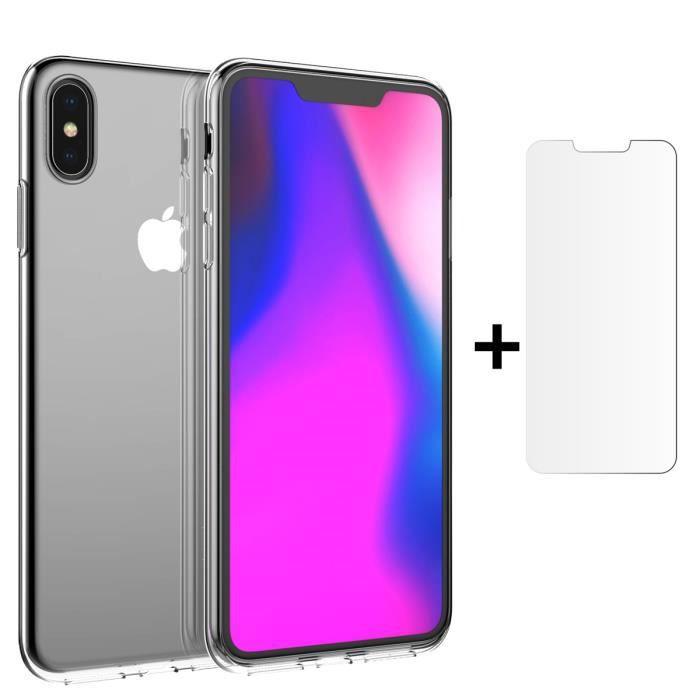 coque iphone xs max etui transparent gel silicone