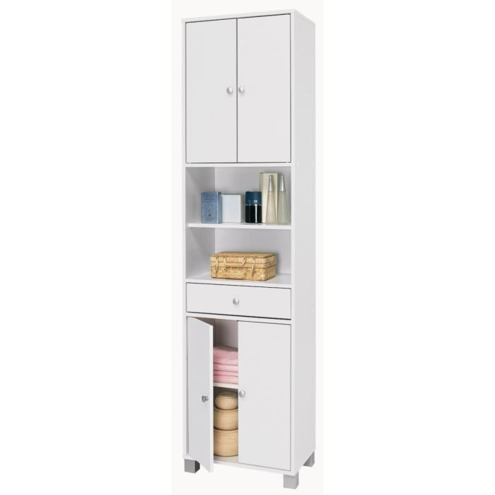 bikini armoire de salle de bain 50 cm blanc achat. Black Bedroom Furniture Sets. Home Design Ideas