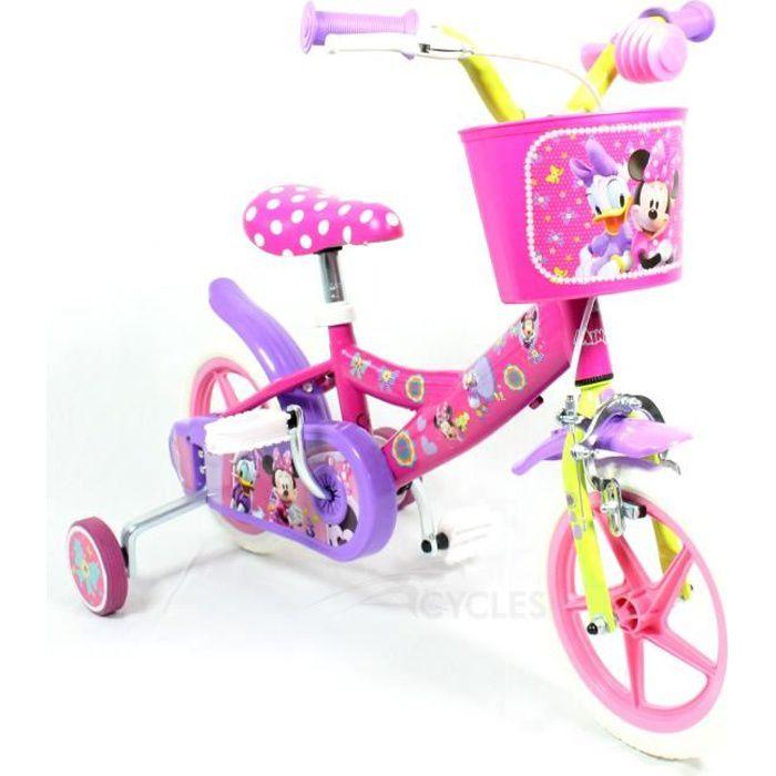 VÉLO ENFANT Vélo Enfant Disney Minnie 10 pouces Rose 2-4 ans