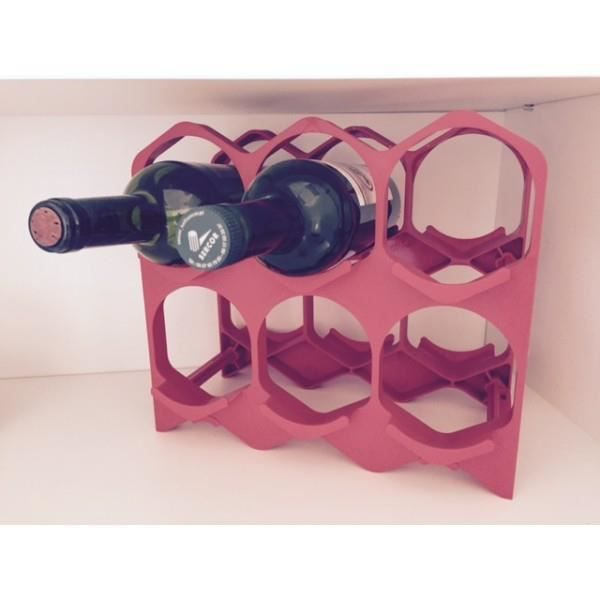 Casiers 6 bouteilles rouge volcan achat vente porte for Distributeur alcool mural