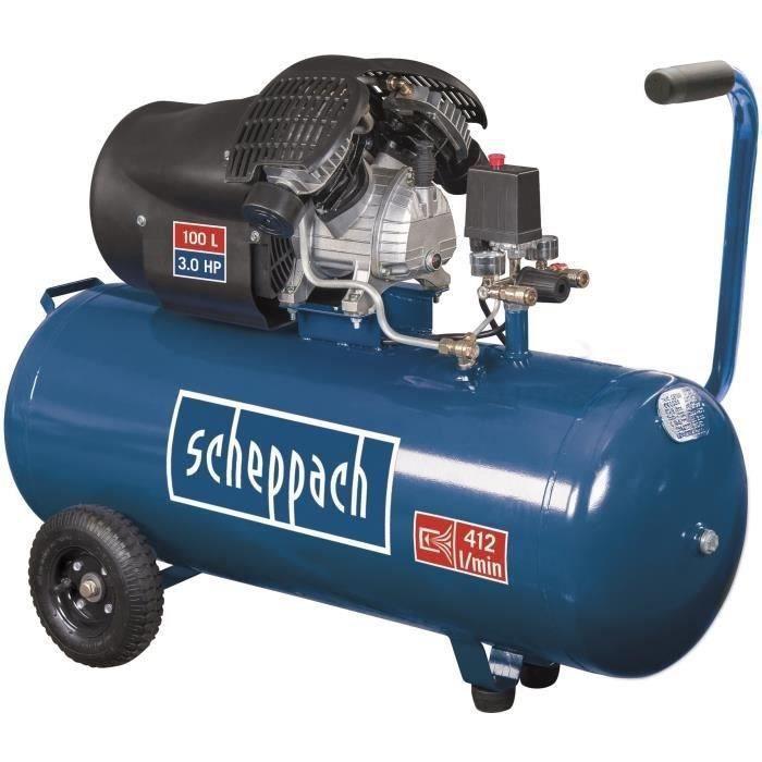 SCHEPPACH Compresseur d'air horizontal HC100DC - 100 L - 3CV - 8...