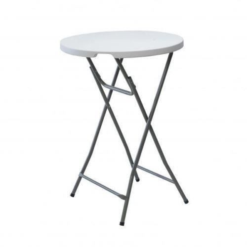 GEANTE TABLE BAR PLIANTE HAUTE RONDE 80CM PORTABLE PLIABLE ...