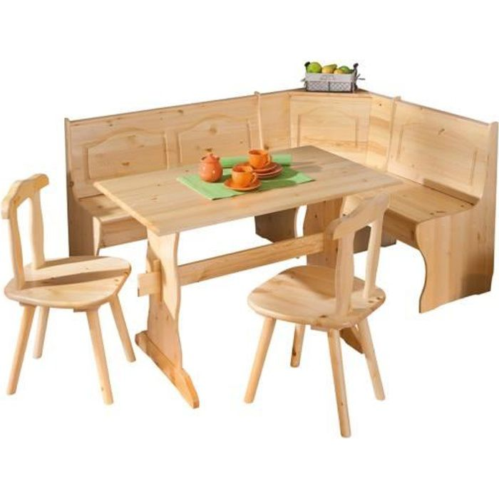 coin repas en pin massif achat vente table a manger. Black Bedroom Furniture Sets. Home Design Ideas