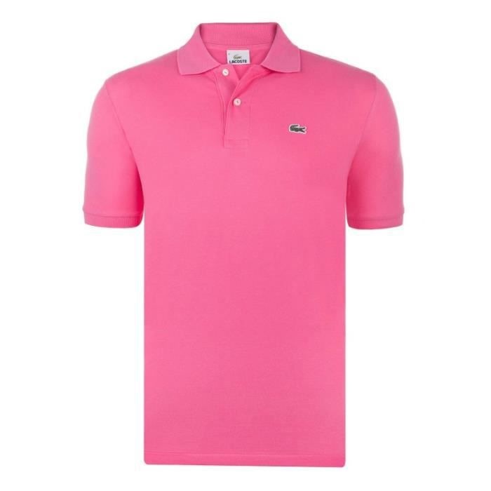 LACOSTE Polo Homme - Manches courtes - Rose