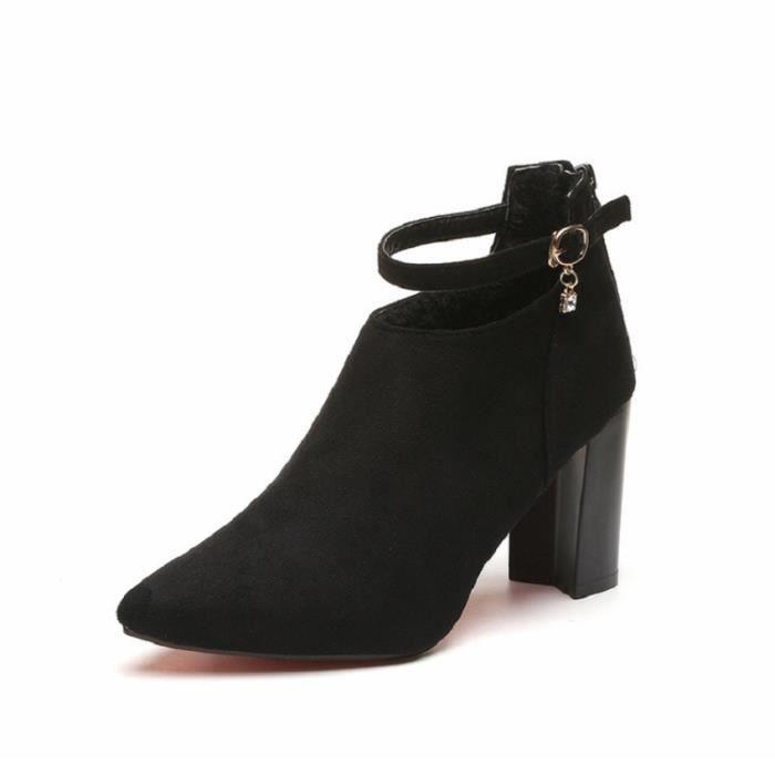 Nouvellesà de Élégant talons et Chaussures Femmes Escarpins Pompes BYLG femme confortable mariage Chaussures hauts XZ234Noir35 yg76Ybfv