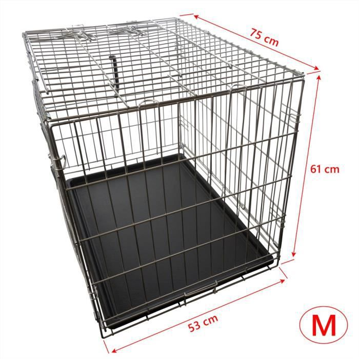 nemaxx cage pour chien pliable et transportable taille m. Black Bedroom Furniture Sets. Home Design Ideas