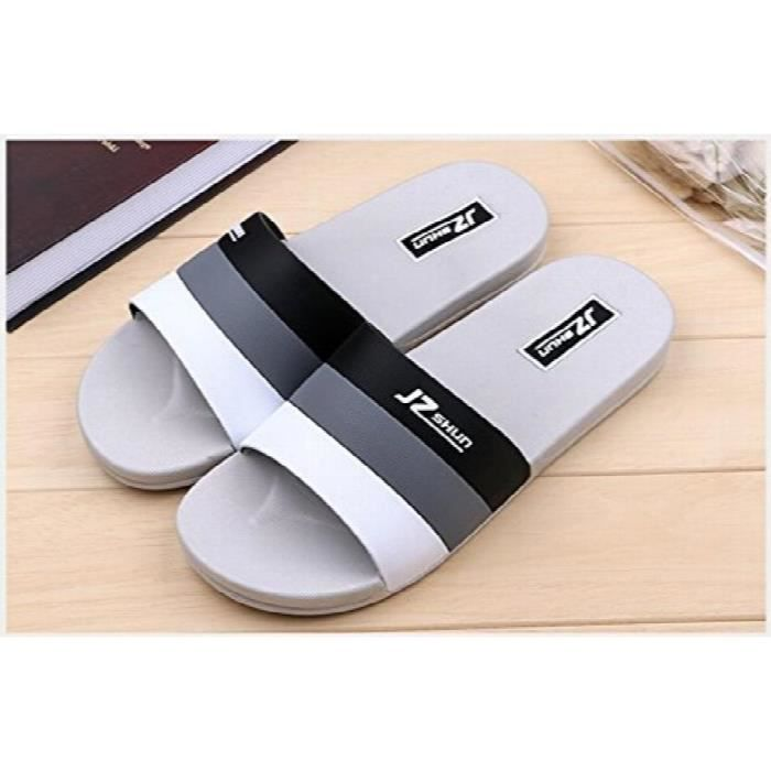Slippers For Slides Slip On Slides House Slippers Floor Man Slipper Sandals Bath Slipper S162 UKT5P Taille-43