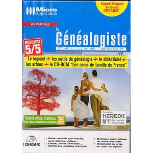 JEU PC LE GENEALOGISTE DELUXE 2007 / PC CD-ROM