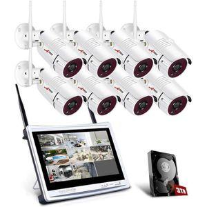 CAMÉRA DE SURVEILLANCE Tout-en-Un Système de Caméra Surveillance avec 12