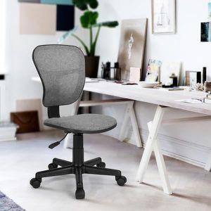 CHAISE DE BUREAU Chaise pour enfant, fauteuil de bureau gris et noi