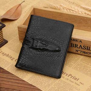 PORTE MONNAIE Porte monnaie Bifold wallet Hommes cuir crédit Noi