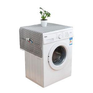 UNE Couvercle de machine /à laver Couvercle du pare-poussi/ère du r/éfrig/érateur Couvercle sup/érieur du lave-linge multi-usages pour r/éfrig/érateur Protecteur antipoussi/ère