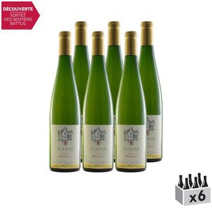 VIN BLANC Riesling Alsace Blanc 2015 - Lot de 6x75cl - Domai