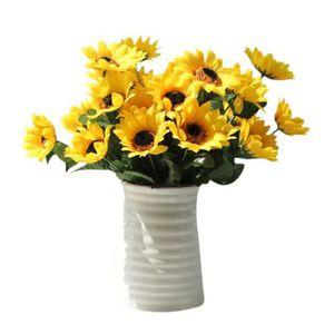 Orange+Rose+Jaune+Violet Lot de 4 Petites Plantes Artificielle des Fleurs avec Pot,Int/érieur Exterieur pour D/éco.