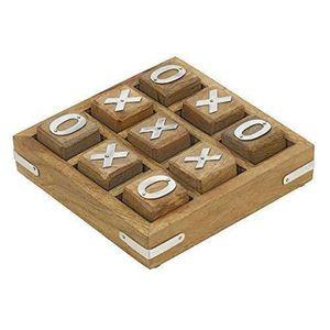 SUPPORTS PÉDAGOGIQUES Noughts en bois et croix Tic Tac Toe pédagogiques