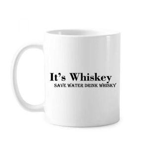 WHISKY BOURBON SCOTCH c'est un whisky pour économiser de l'eau à boire d