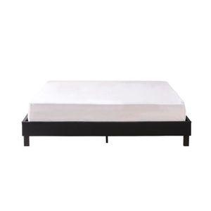 STRUCTURE DE LIT Lit design noir avec sommier 140 x 190 cm - Nocta