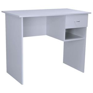 BUREAU  Harbour Housewares - Bureau en bois Table - Blanc