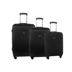 TROLLEY MATERIEL Série de 3 valises rigides BENZI noir bagages de c