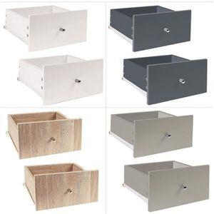 TIROIR COULISSANT Lot de 2 tiroirs pour meuble à case + rails coulis