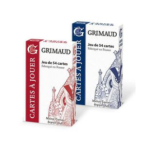 CARTES DE JEU Duo pack Grimaud Origine 54 cartes - jeu de 54 car