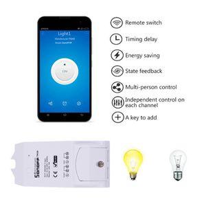 PLAQUE DE FINITION Sonoff WiFi intelligent Télécommande Commutateur C