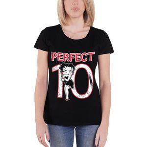 T-SHIRT Betty Boop T Shirt Perfect 10 Logo officiel Femme