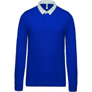 POLO Polo homme rugby - manches longues - K213 - bleu r