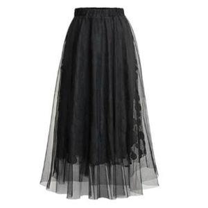 JUPE Mode Femmes Printemps haute taille élastique Dot M