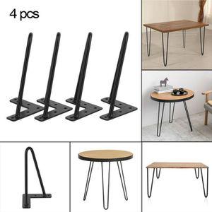 PIED DE TABLE Lot de 4 Pieds de table/ Pieds En Épingle À Cheveu