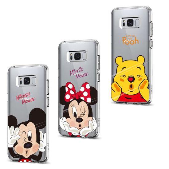 Coque Pour SSamsung Galaxy S8 Plus 3PC Disney Minnie Schéma Souple Premium TPU Gel Silicone