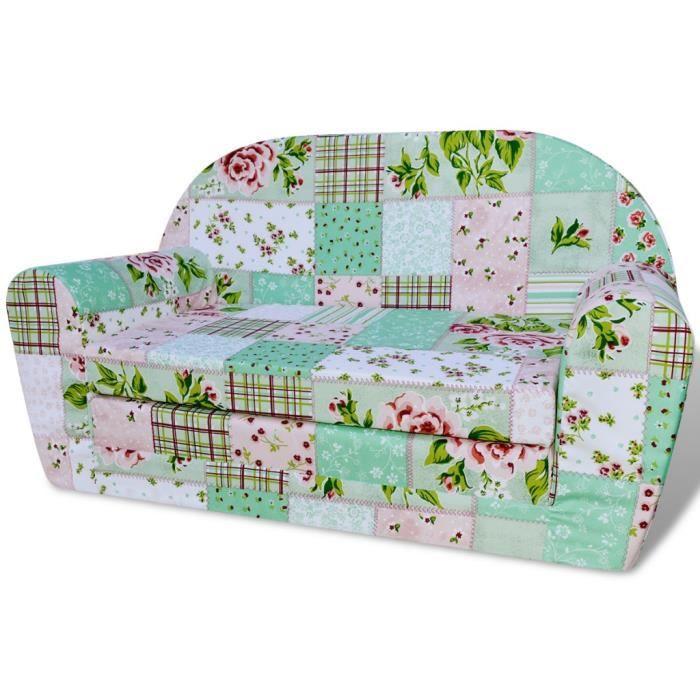 Fauteuils club, fauteuils inclinables et chauffeuses lits Chaise longue pliable pour enfants motif de fleurs