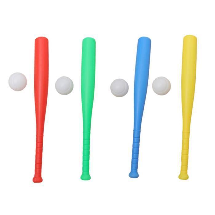 1 ensemble de 8 pièces de Baseball pour enfants entraînement drôle créatif en plein air sûr interactif BALLE DE TENNIS DE TABLE