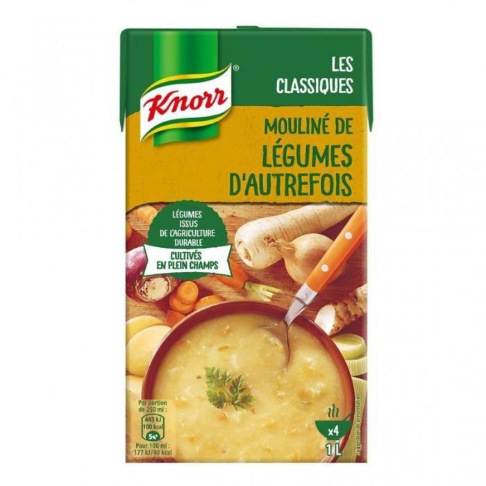 Knorr Les Classiques Mouliné de Légumes d'Autrefois 1L (lot de 4)