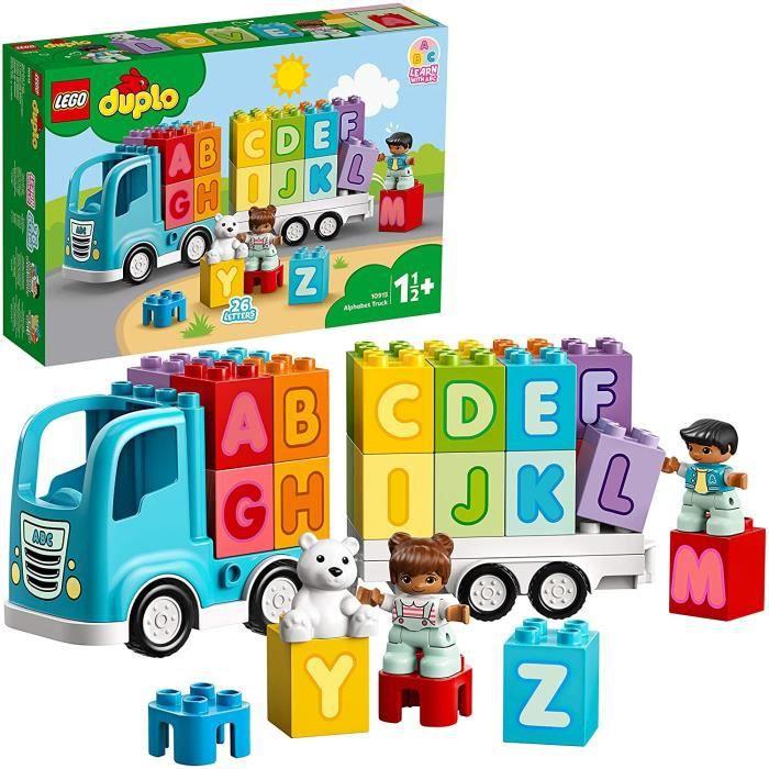 LEGO DUPLO Le camion des lettre,s Briques d'apprentissage des lettres, éducation préscolaire, Jouet pour tout-petits de 1,5 ans, 87