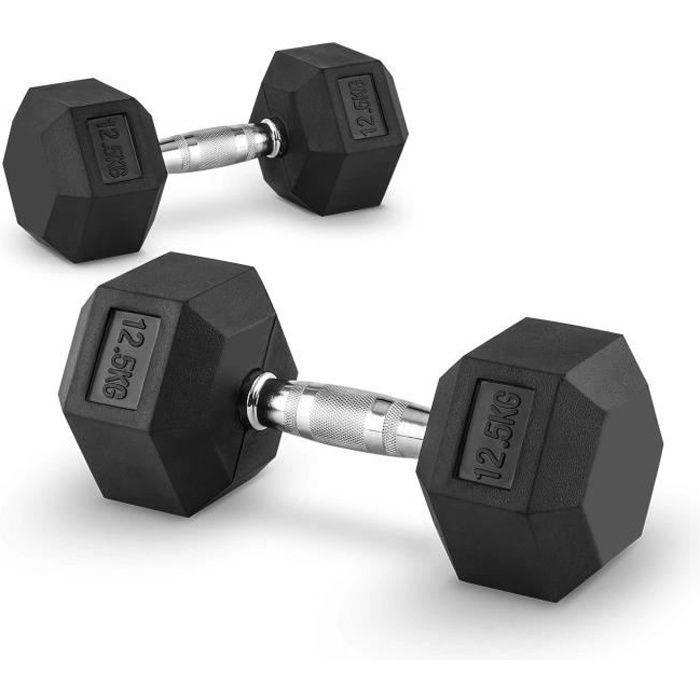 Capital Sports Hexbell Paire d´haltères courtes Dumbbell 12,5kg