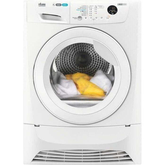 Sèche-linge pompe à chaleur FAURE FDH82200PS - 8 kg - Classe A++ - Blanc