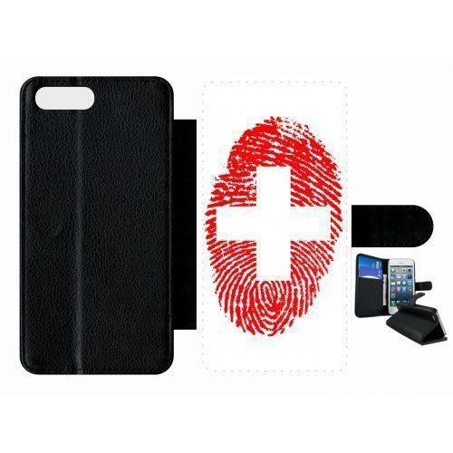 etui rabat apple iphone 7 plus empreinte digitale drapeau suisse switzerland!!!