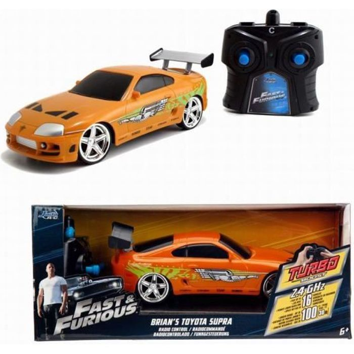 TOYOTA SUPRA RC Brian Fast and Furious 1/24 Radio-commandée Fonction Turbo Boost