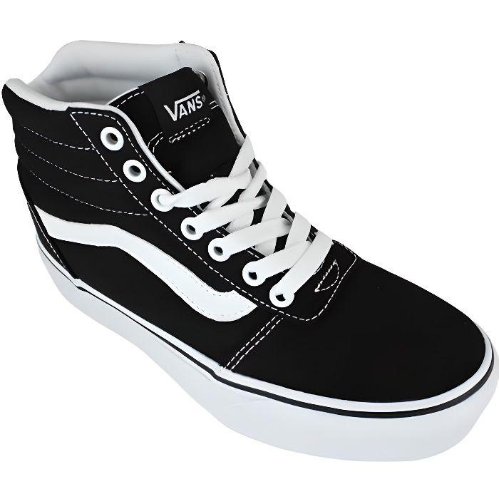 Vans ward hi platform canvas black/white