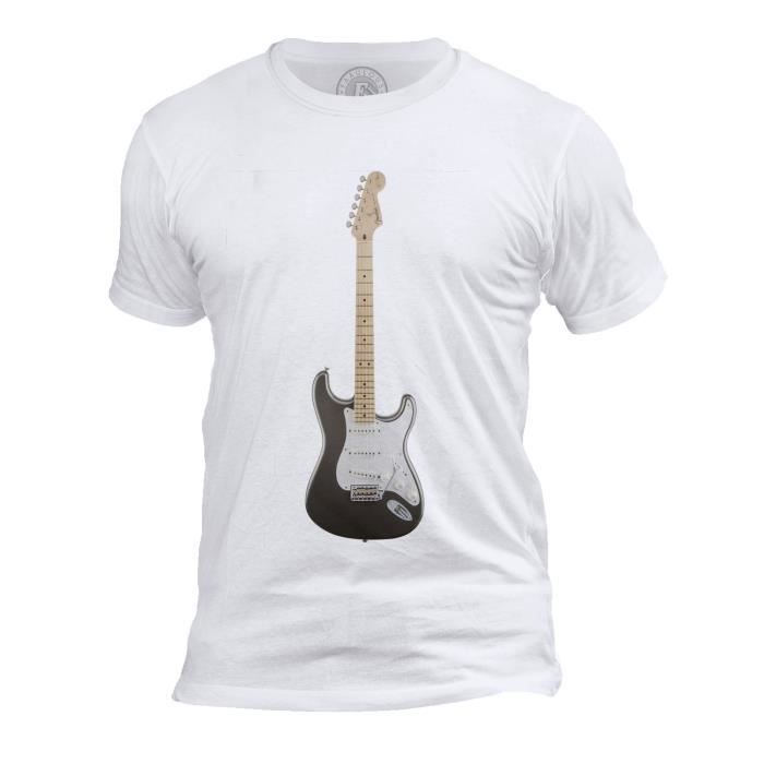 T-shirt Homme Col Rond Guitare Eric Clapton Guitare Hero Slowhand Rock Blues