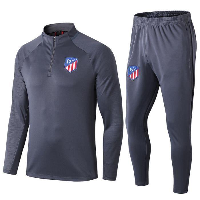 Atletico Madrid Maillot de Foot Football Soccer(maillot + pantalon)Kit 2019 - 2020 Pas Cher Survêtement Training pour Homme