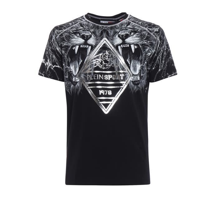 PLEIN SPORT Tshirt - Black - For Men - édition -Nastase- - Référence : MTK1848SJY001N02