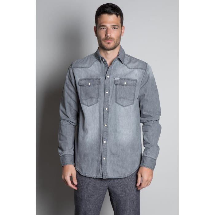 DEELUXE Chemise grise en jean FLUSHING Grey Used